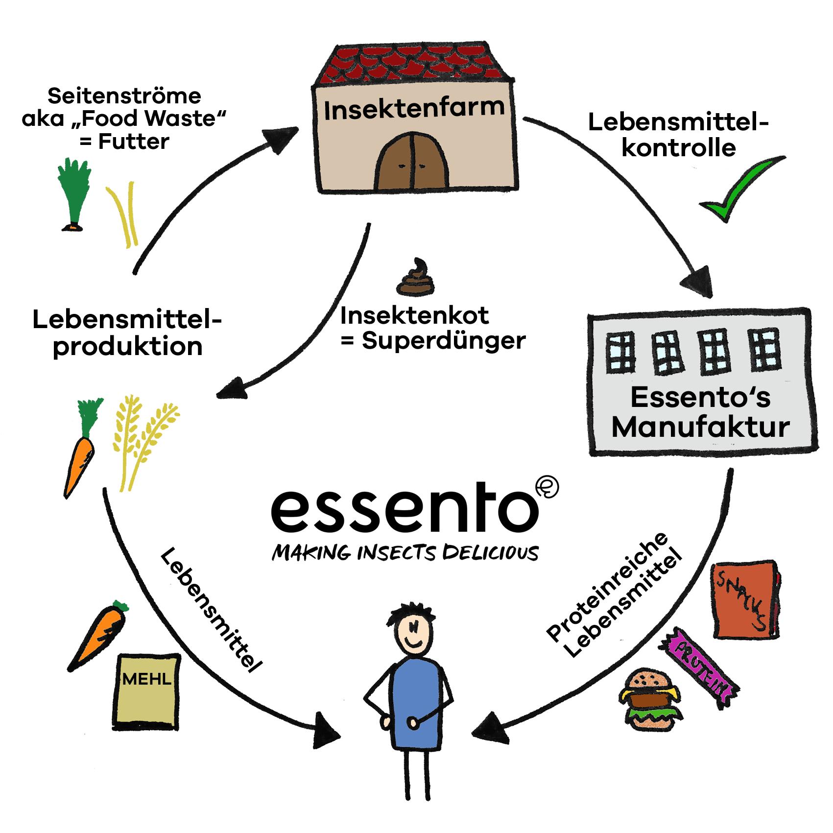 Insekten und Foodwaste - ein Kreislauf